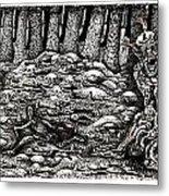 Aaron Battles The Ogre Metal Print