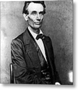 Abraham Lincoln 1860portrait By B Metal Print by Everett