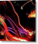 Abstract Neon Lights Metal Print