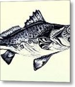 Abstract Speckled Trout Metal Print by J Vincent Scarpace