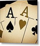 Aces Metal Print by Shane Rees