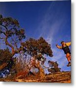 Adam Lederer Trail-runs Near Dolores Metal Print