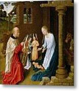 Adoration Of The Christ Child  Metal Print