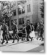 African-american Students Leaving Metal Print