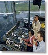 Air Traffic Controllers Direct Traffic Metal Print