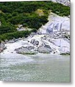 Alaskan Ice Melt Metal Print