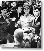 Allied Leaders Drink A Victory Toast Metal Print