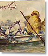 American Easter Card Metal Print by Granger