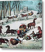 American Winter 1870 Metal Print by Photo Researchers