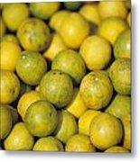 An Enticing Display Of Lemons Metal Print by Jason Edwards