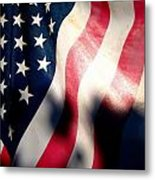And The Flag Still Stood Metal Print by Catherine Natalia  Roche