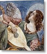 Angel With A Lute Metal Print