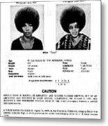 Angela Davis Fbi Wanted Ad, August 8th Metal Print by Everett