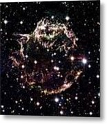 Animation Of A Supernova Explosion Metal Print by Harvey Richer