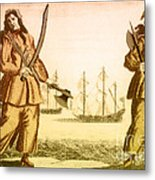 Anne Bonny And Mary Read, 18th Century Metal Print