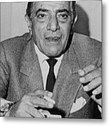 Aristotle Onassis, Circa Early 1970s Metal Print by Everett