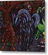 Asil At The Forest Lord's Midnight Gathering In Shitaki Metal Print by Al Goldfarb