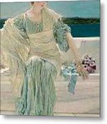 Ask Me No More Metal Print by Sir Lawrence Alma-Tadema