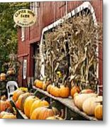Autumn Farm Stand  Metal Print