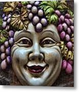 Bacchus God Of Wine Metal Print