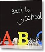 Back To School Concept With Abc Letters Metal Print