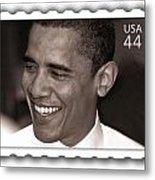 Barack Obama Portrait. Photographer Ellis Christopher Metal Print
