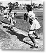 Baseball, Kenosha Comets Play Metal Print by Everett