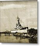 Battle Ship Metal Print