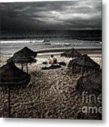 Beach Minstrel Metal Print by Carlos Caetano