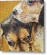 Beagle Puppies Metal Print by Judy Skaltsounis