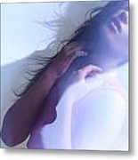 Beauty Photo Of A Woman In Shining Blue Settings Metal Print