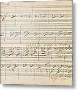 Beethoven Manuscript, 1806 Metal Print by Granger