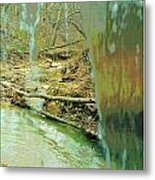 Behind The Waterfall Metal Print by Padre Art