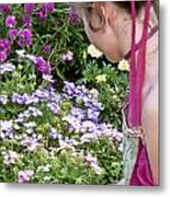 Belle In The Garden Metal Print by Angelina Vick