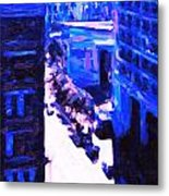 Big City Blues 2 Metal Print by Wingsdomain Art and Photography