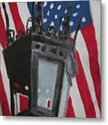 Boston Lightpost Metal Print