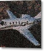Bottle Cap Cessna Citation Mosaic Metal Print