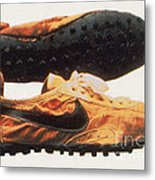 Bowermans Waffle Sole Design Metal Print by Photo Researchers