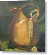 Brass And Tomatillos Metal Print by Lilibeth Andre