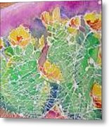 Cactus Color Metal Print by M C Sturman