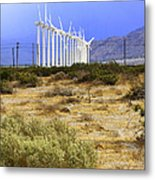 Calm Wind Palm Springs Metal Print