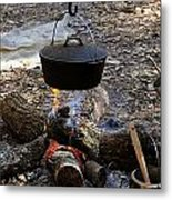 Campfire Cooking Metal Print by David Lee Thompson