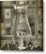 Candle And Window Metal Print