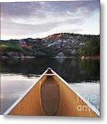 Canoeing In Ontario Provincial Park Metal Print