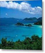 Caribbean Blue Metal Print by Kathy Yates