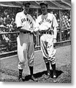 Carl Hubbell & Vernon Lefty Gomez Metal Print by Everett