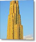 Cathedral Of Learning In Evening Light Metal Print