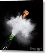 Champagne Cork Popping Metal Print