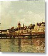 Chapel Bridge Lucerne Switzerland Metal Print
