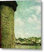 Chapel Bridge Tower In Lucerne Switzerland Metal Print